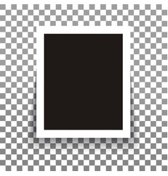 Isolated realistic empty photo frame with vector