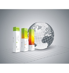 Modern Design template Infographic with Globe vector image vector image