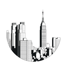 new york city view - empire state building vector image