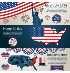 Set - 4th of July banners vector image vector image