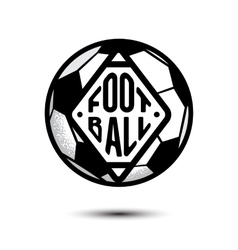 Soccer Football ball background isolated on white vector image