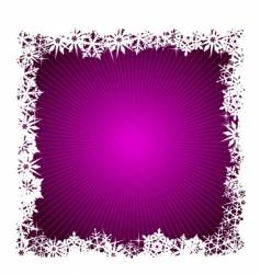 square purple snowflake background vector image vector image