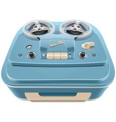 Vintage reel to reel audio tape recorder vector image