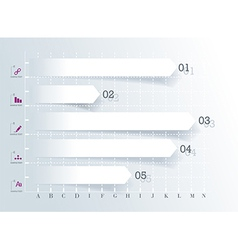 Conceptual Design template infographics element vector image