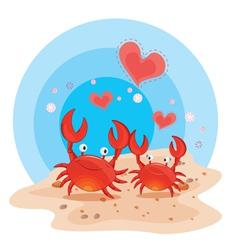 crabs on beach vector image vector image