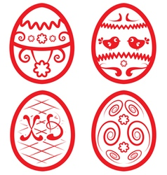 Easter set for design beautiful eggs vector image vector image