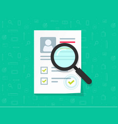 human resources flat cartoon paper vector image