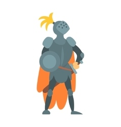 Knight Fairy With Orange Cape And Shield Tale vector image vector image