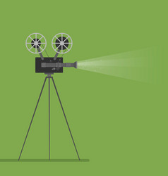 video camera movie film reel going to cinema icon vector image