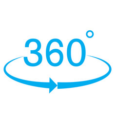 360 degree icon on white background 360 degree vector