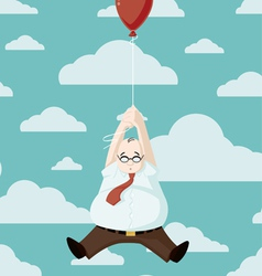 adrift carried away cartoon vector image