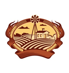 agriculture landscape icon vector image
