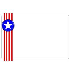 American symbols ribbon frame card vector