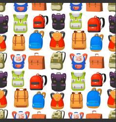 back to school kids backpack vector image