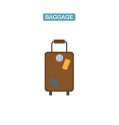 baggage bag icon vector image
