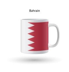 Bahrain flag souvenir mug on white background vector