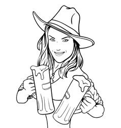 Beer Girl vector