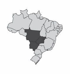brazil center-west region vector image