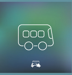 bus icon - thin series vector image