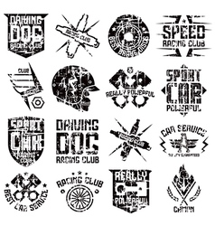 Car and biker culture badges vector