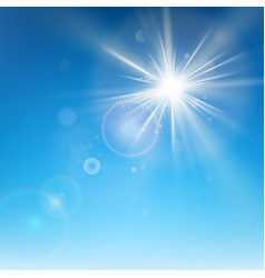 clear blue sky with sun shine eps 10 vector image