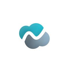 Cloud abstract logo vector