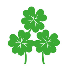 Clover leaf ecology icon vector