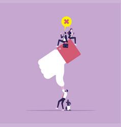 Concept customer satisfaction and unlike vector
