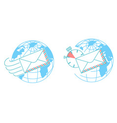 concept of delivery post day vector image