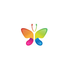creative colorful abstract simple butterfly logo vector image