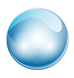 crystal sphere ball vector image