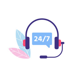 Customer service support 24 7 personal assistant vector