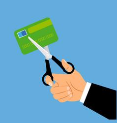 debit card account closing concept vector image