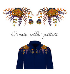 Design for collar shirts and blouses vector