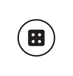 dice icon graphic design template vector image