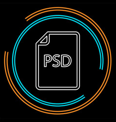 Download psd document icon - file format vector