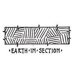 earth in section material symbol insulation is vector image