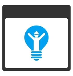 Electrician Calendar Page Toolbar Icon vector