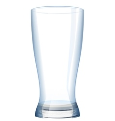 Empty glass cup for water vector