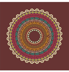 Ethnic Aztec circle ornament vector