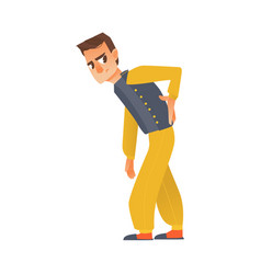 flat sick man suffering from backache vector image