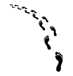 footsteps vector image