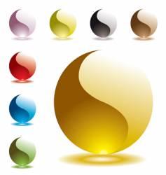 Gel marbles vector