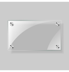 Glass rectangle plane vector image
