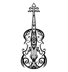 Hand drawn cello sketch symbol violin vector