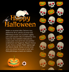 Happy halloween background designed by ornament vector