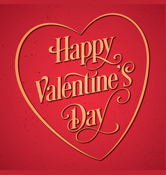 happy valentine day postcard vector image