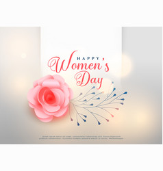 Happy womens day rose flower background card vector