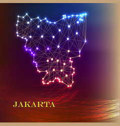High quality map of jakarta is a city of vector