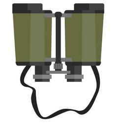 Icon binocular isolated on white background vector